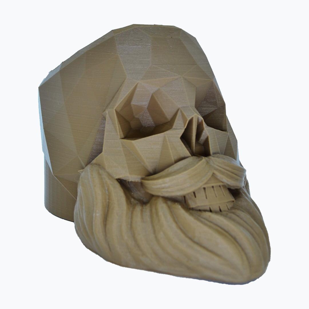 Porta objetos caveira barbeiro 3d skull porta pentes