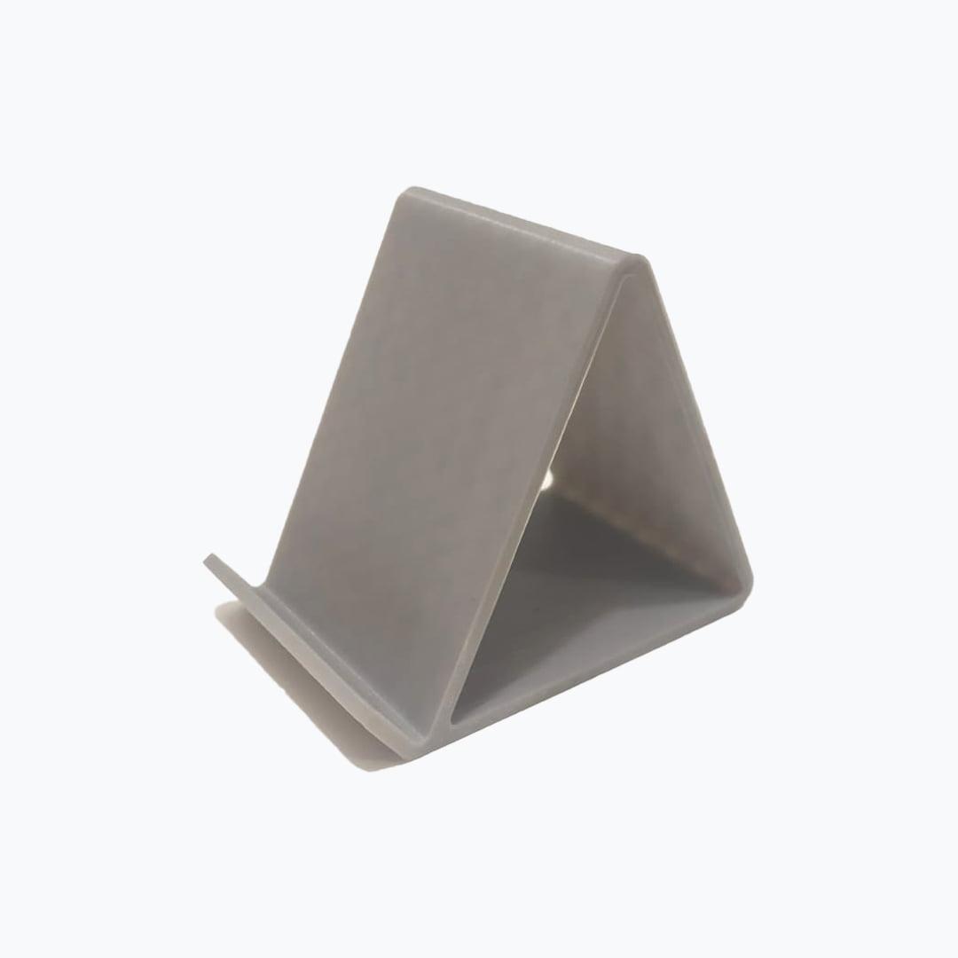 Suporte para celular mesa impressão 3d cinza fraco porta celular
