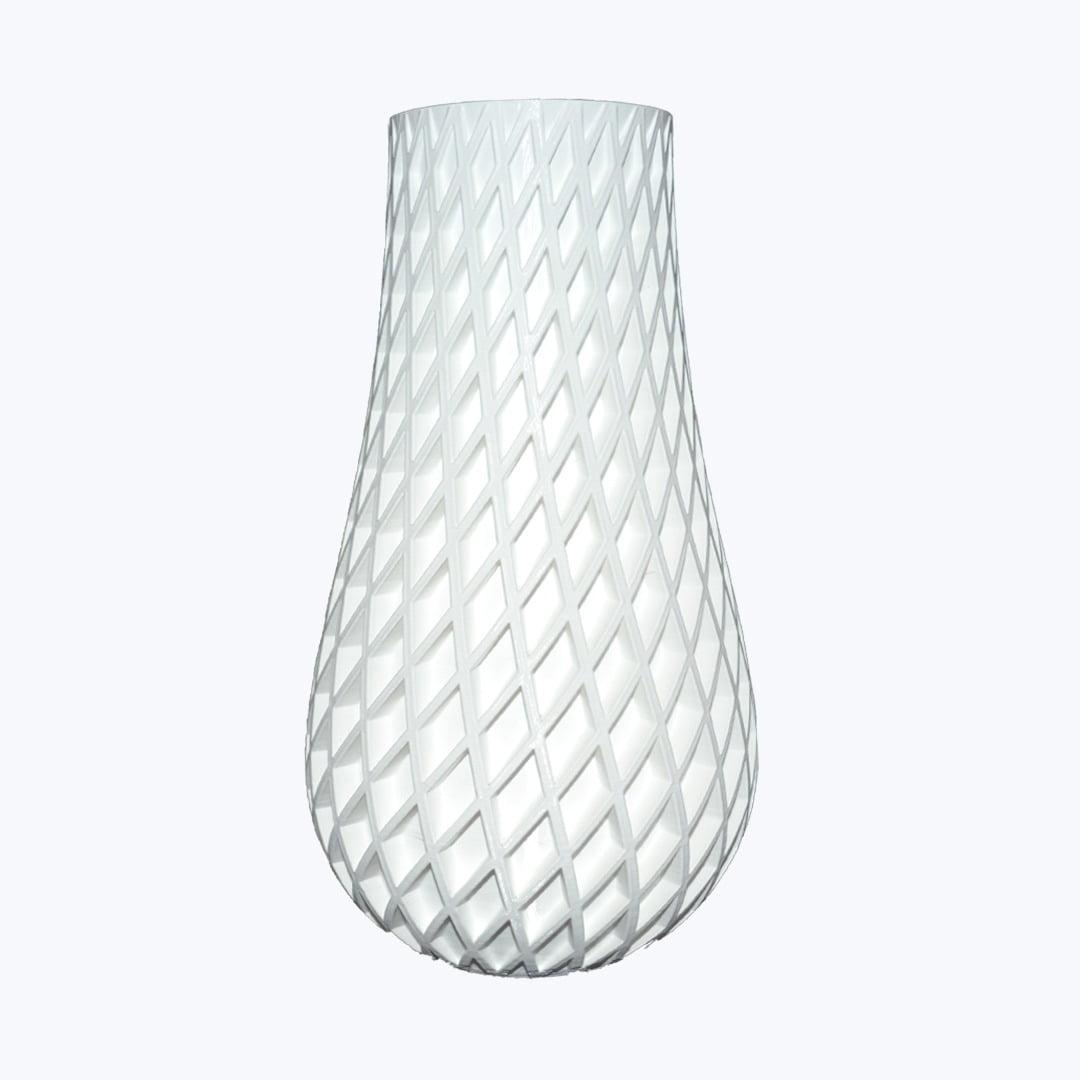 Vaso duplo espiral 3d porta objetos cor branco