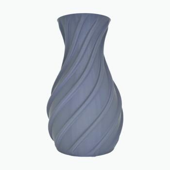 Vaso decorativo espiral 3d porta objetos cinza